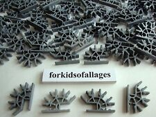 100 KNEX SILVER GRAY Metallic 4-Position 3D Connectors Standard Parts/Pieces Lot