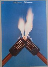 original poster Olympics Games Montréal Route of the Flame Jeux Montreal 1976 AA