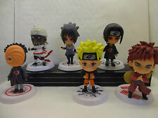 NARUTO ANIME CAKE TOPPER FIGURES SET OF 6 BRAND NEW