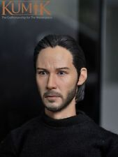 KUMIK 1/6  KM15-5 Keanu Reeves John Wick  man  maleHead Sculpt For Hot Toys Body