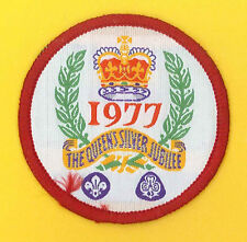 SCOUTS OF BRITISH - 25th Years of QUEEN'S SILVER JUBILEE SCOUT & GUIDES BADGE