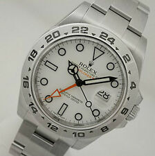 Rolex EXPLORER II 216570 Mens Stainless Steel Oyster White Dial 24HR Bezel 42MM
