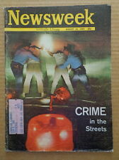 NEWSWEEK magazine Aug16 1965 CRIME in the STREETS-War in VIETNAM-Space Age