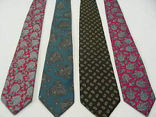LOT OF 4 - CLAYBROOKE - VINTAGE NECKTIES! ALL AUTHENTIC MADE IN USA!