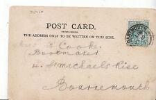 Genealogy Postcard - Family History - Cooke - Bournemouth   U1916