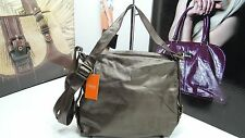 NWT LATICO Shoulder Bag Metallic Brown Leather W/Organizer &Antique  Hardware