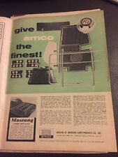 1964 Vintage Amco MG Print Automobilia Motor Car magazine advert