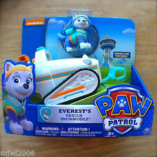 Nickelodeon PAW PATROL Everest's Rescue Snowmobile NEW Moveable Claw HUSKY DOG