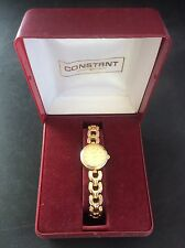 Ladiies Boxed Constant Quartz Watch Fully Working in Box Stainless Steel Back