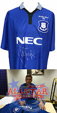 DUNCAN FERGUSON SIGNED EVERTON 1995 FA CUP FINAL SHIRT SEE PROOF
