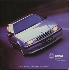 Saab 9000 CS/CSE/AERO Brochure/prospekt Dutch 1997