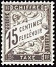 "FRANCE STAMP TIMBRE TAXE N° 16 "" TYPE DUVAL 15c NOIR "" NEUF x TB"