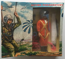 """BBRB TOYS 8 INCH ACTION MAN FIGURE PARACHUTIST  """"MEGO LIKE""""  1970s VG CONDITION"""