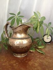 ANTIQUE STERLING SILVER WATER PITCHER   540g / 2.75pts