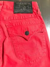 TRUE RELIGION BRAND JEANS MENS RED SKINNY WITH FLAP JEANS SZ 27