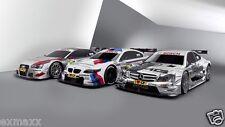 BMW M3 Mercedes C63 AMG Audi A5 DTM Cars Wall Silk Art Poster Print - 24x36
