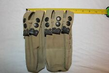Israeli IMI Uzi Magazine Mag Belt Pouch 5 Pocket Canvas Military USED