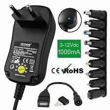1000mA 1A Universal EU 2 Pin AC/DC Adaptor Mains Plug Power Supply USB Charger