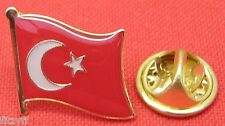 Turkey Turkish Turks Country Flag Lapel Hat Cap Tie Pin Badge Brooch
