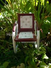 Red Vintage Table and Chair set/ Miniature  Fairy/Faerie Gnome Hobbit Garden
