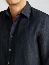 John Varvatos $195 Denim Style Button Down Shirt in Indigo; S