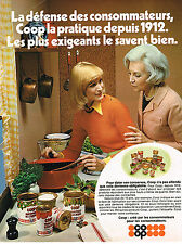 PUBLICITE ADVERTISING 064  1973  MAGASINS COOP   les conserves