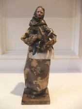 Vintage Paper Mache Old Woman Holding a Pig Mexican Folk Art Figurines Figure