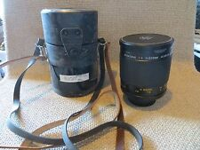 Spiratone 1:8 f=500mm Mirror Lens Plura-Coat Minitel-M with cap & case FREE SHIP