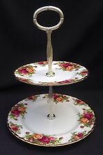 Royal albert old country 2 tier cake stand - 1st qualité