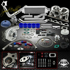 T04E 14P T3/4 TURBO KIT BOLTON INTERCOOLER+RAM HORN MANIFOLD B16/B18 CIVIC EK/DC