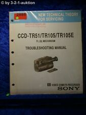 Sony Troubleshooting Manual CCD TR51 / TR105 / TR105E (#2885)