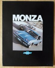 CHEVROLET MONZA 1977 USA inchiostri BROCHURE catalog - 2 +2 Coupé Spyder Coupe