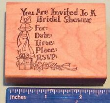 BRIDAL SHOWER INVITE rubber stamp by Delafield Stamp Company