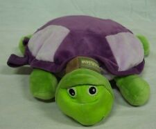 Zoobie PURPLE & GREEN TURTLE W/ PURPLE BLANKET INSIDE Plush STUFFED ANIMAL Toy