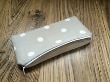 Handmade With Cath Kidston Stone Spot Fabric - Pencil Make-Up Glasses Case