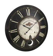 23 Inch Diameter Kensington Station Pendulum Wall Clock