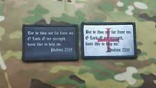 2 Pack Set- Psalm 22:19 Crusader Cross  Morale Patch Christian Infidel