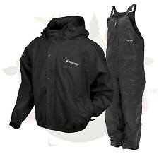 NEW XL XL Frog Togs Frogg Toggs Black Pro Advantage Rain Suit Jacket and Bibs