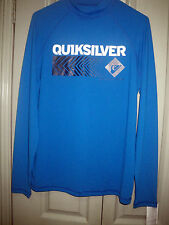 Quiksilver Men M Born From the Sea UPF 50+ Long Sleeve Blue UVTech Rash Vest