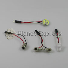 Panel 22 LED SMD C5W Festoon T10 W5W BA9S Maletero Interior.. Blanco Xenon placa