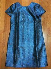 NWT Madewell J. Crew shimmerweave sparkle shift dress - midnight blue SIZE 2