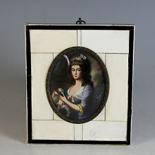Miniature Portrait of Queen Louise of Mecklenburg signed 19th Century