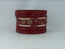 Longaberger 2012 Christmas Snowflake Small Treasures Basket w Protector NWT