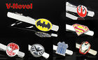 Comics Movie Super Hero Novelty Silver Wedding Men Tie Clip Theme Party