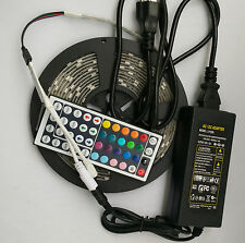 5M 300 LED Strip Light RGB 5050SMD Waterproof +44 Key Remote +12V 5A Power