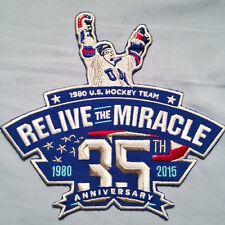 1980 USA Olympic Hockey Team MIRACLE ON ICE 35th Anniversary 2015 Jersey PATCH!