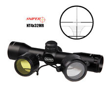 Crossbow Scope Compact 4X32 Fixed Magnification Scope Range-finding Reticle