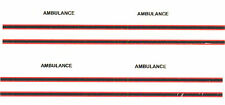 *8 x AMBULANCE DECAL STRIPES and wording FOR CODE 3 AMBULANCE Oxford Diecast etc