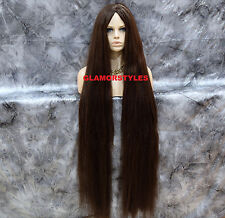 "48"" Long Layered Dark Brown Full Costume Party Cosplay Halloween Wig Hair Piece"