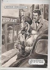 MAGNI. Gouache originale Nuit de Noces volée. Allons au restaurant...(74/11)